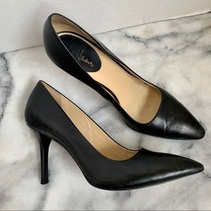 Cole Haan Nike Air Black Leather Classic Heels